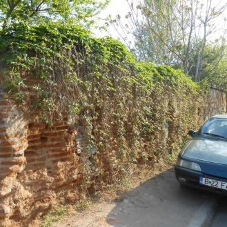 Porțiunea de zid de pe strada caporal Ilie Caragea